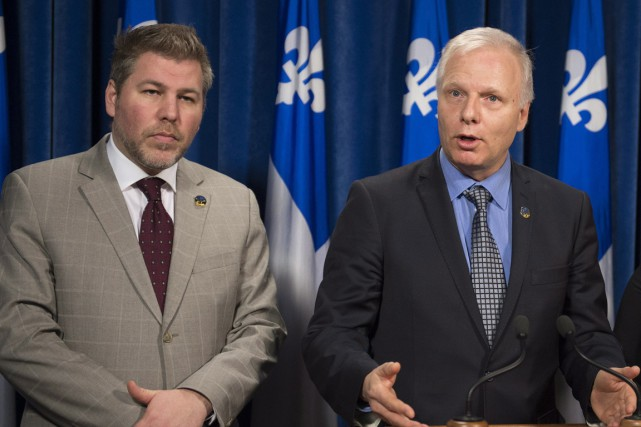 Pascal Bérubé et Jean-François Lisée.... (Photo archives La Presse Canadienne)