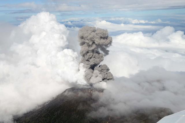 Le Turrialba lors d'une précédente éruption.... (Photo archives AFP)