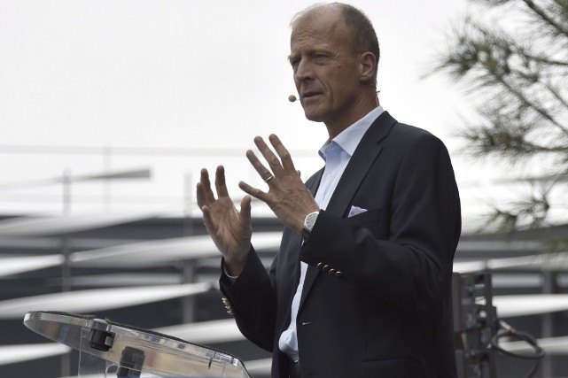 Le patron d'Airbus Group, Tom Enders... (AFP, Pascal Pavani)