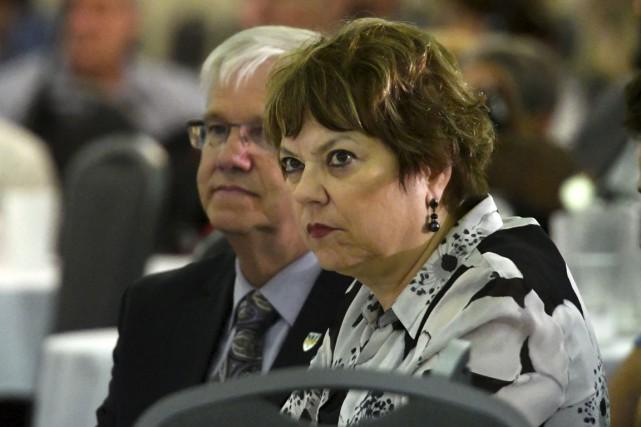 Les propos d'Hélène David, ministre responsable de l'Enseignement... (S)