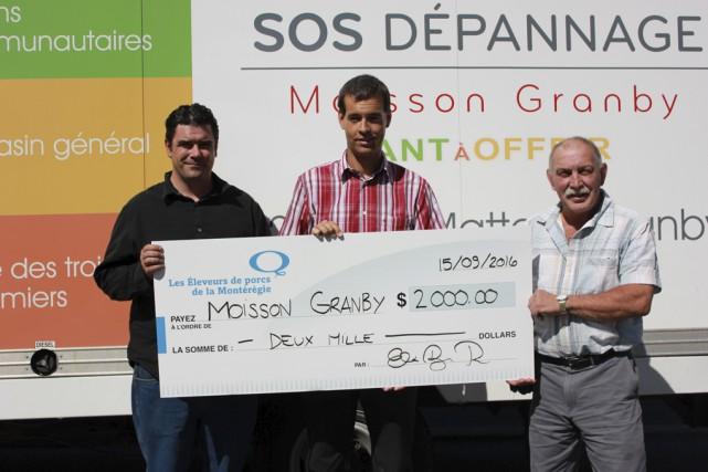 Les Éleveurs de porcs de la Montérégie ont fait don de 900livres de porc à... (fournie)