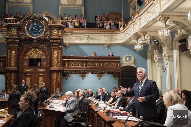 Le premier ministre du Québec, Philippe Couillard, et... (Photothèque Le Soleil)
