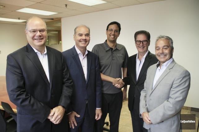 Les propriétaires de Pagex, François et Bernard Larouche,... (Photo Le Quotidien, Yohann Gasse)