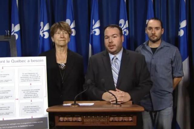 La députée de Gouin pour QS, François David,... (Tirée d'une vidéo de l'Assemblée nationale)