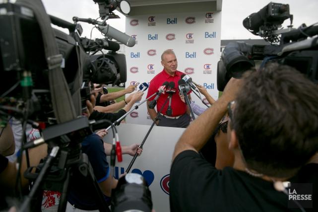 L'entraîneur du Canadien de Montréal, Michel Therrien... (La Presse, François Roy)
