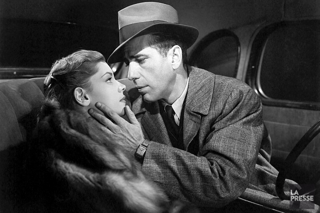 Lauren Bacall et Humphrey Bogart dans The Big Sleep.... (PHOTO ARCHIVES LA PRESSE)