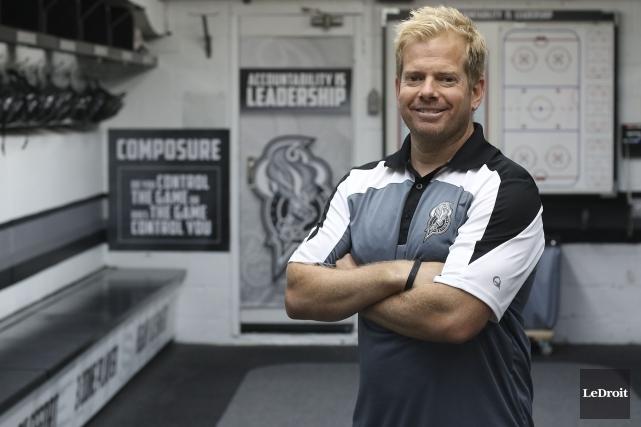 Le nouvel entraîneur-chef des Olympiques de Gatineau, Mario... (Le Droit, Patrick Woodbury)