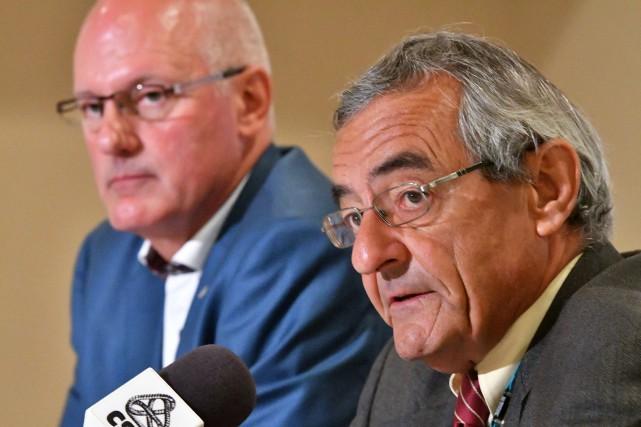 Guy Laurion, vice-président de la FSSS-CSN et Jean... (S)