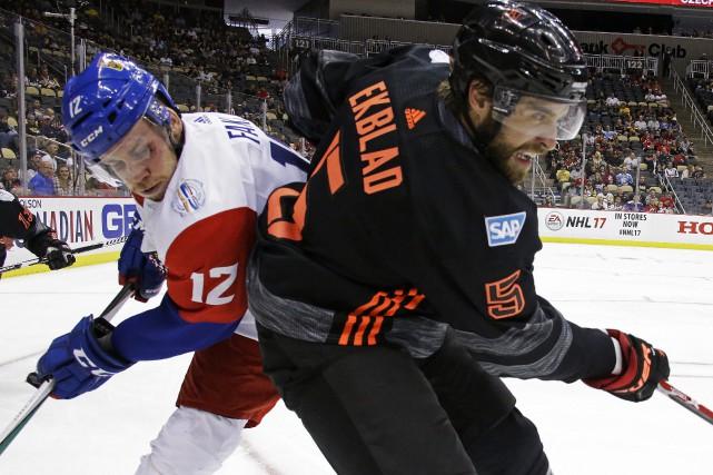 Ekblad s'est blessé dans la victoire de 4-1... (Photo Gene J. Puskar, AP)
