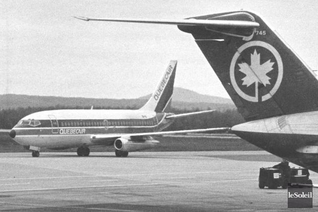 Dans les années 80, les transporteurs Québécair et... (Archives Le Soleil, Jean-Marie Villeneuve)