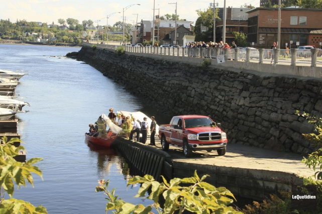 Saguenay (Chicoutimi) corps retrouvé Saguenay marina... (Photo Le Quotidien, Yohann Gasse)