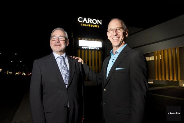 Jean et Bernard Caron, copropriétaires de Caron Chaussure,... (Sylvain Mayer, Le Nouvelliste)