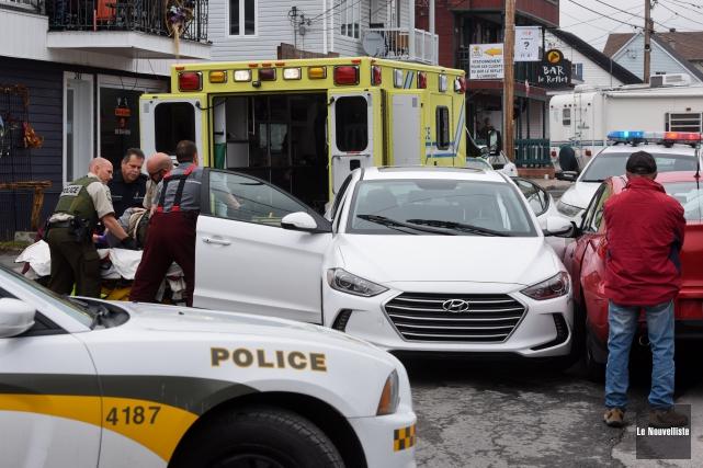 Un accident impliquant deux véhicules est survenu un peu avant 13 h 30 mardi, à... (Photo: François Gervais Le Nouvelliste)