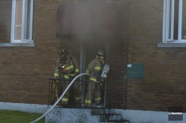 Un début d'incendie d'origine suspecte s'est déclaré, en fin de journée mardi,... (Photo: Sylvain Mayer, Le Nouvelliste)