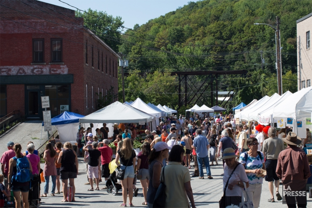 Le Capital City Farmers Market de Montpelier.... (PHOTO ÉDOUARD PLANTE-FRÉCHETTE, LA PRESSE)