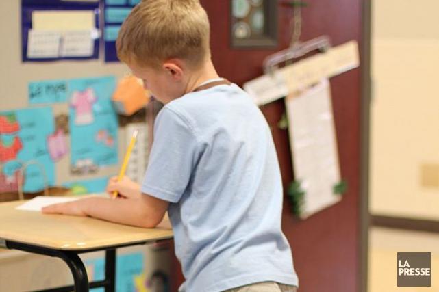 Les trois quarts des enfants âgés de trois et quatre ans respectent les lignes... (Archives La Presse)