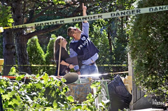L'ouvrier a chuté de sept étages.... (PHOTO PATRICK SANFAÇON, LA PRESSE)
