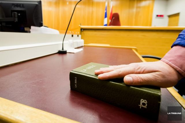 Julie Simoneau-Audy et Karl Watson ont été cités à leur procès pour une affaire... (Archives La Tribune, Jessica Garneau)