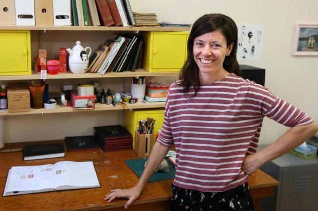 Catherine Lepage est l'auteure de trois livres illustrés... (Photo Robert Skinner, La Presse)
