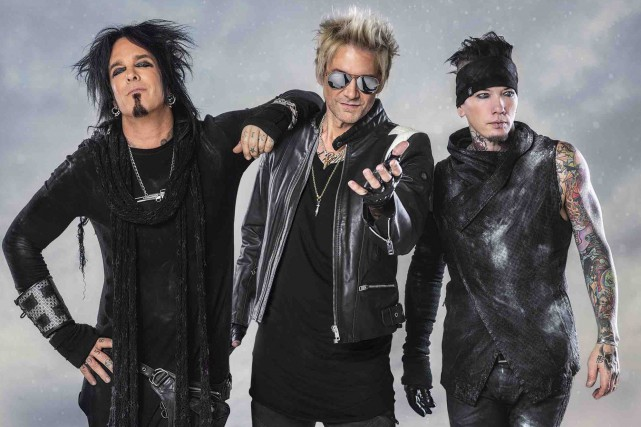Nikki Sixx , James Michael et DJ Ashba, de Sixx:AM:... (Dustin Jack)