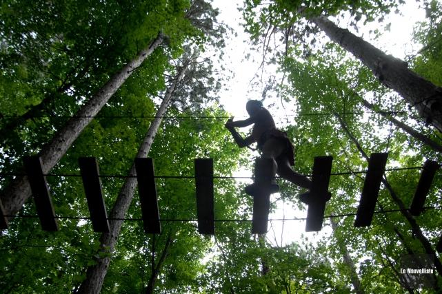 L'activité d'Arbre en arbre à l'île Melville.... (Sylvain Mayer, Le Nouvelliste)