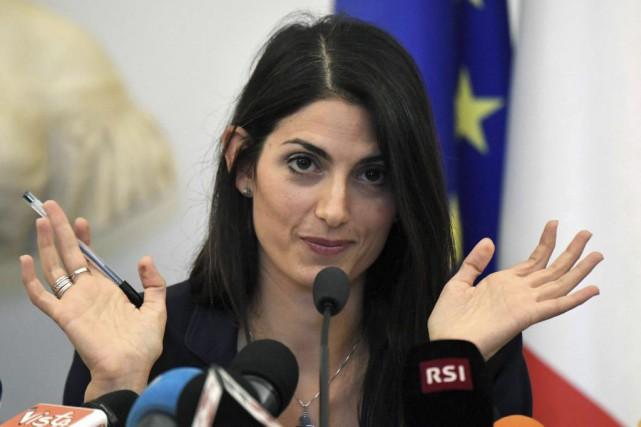 La mairesse de Rome, Virginia Raggi... (Tiziana Fabi, AFP)