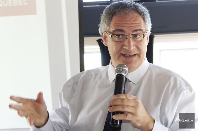 Éric Tétrault, président de l'Association des manufacturiers et... (Le Quotidien, René Bouchard)