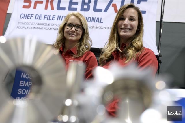 France Tremblay et Clara Sabourin, conseillères en ressources... (Le Soleil, Yan Doublet)