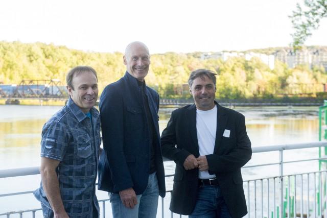 Lloyd Langlois, Jean-Marc Rozon et Nicolas Fontaine, ont... (Spectre Média, Julien Chamberland)