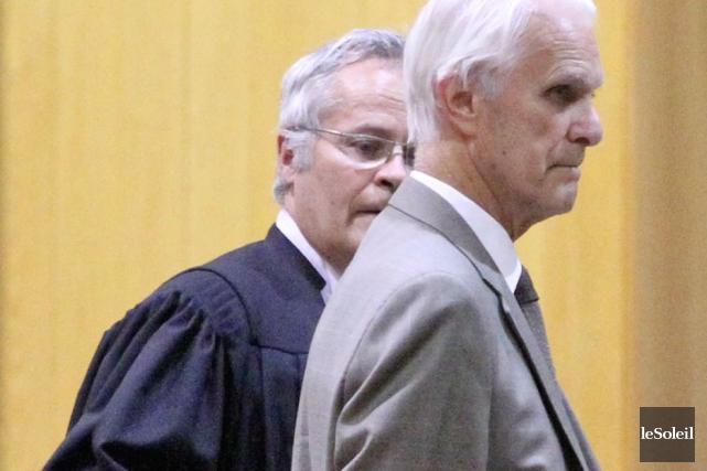 Jacques Delisle après son verdict de culpabilité.L'ex-juge, âgé... (Photothèque Le Soleil)