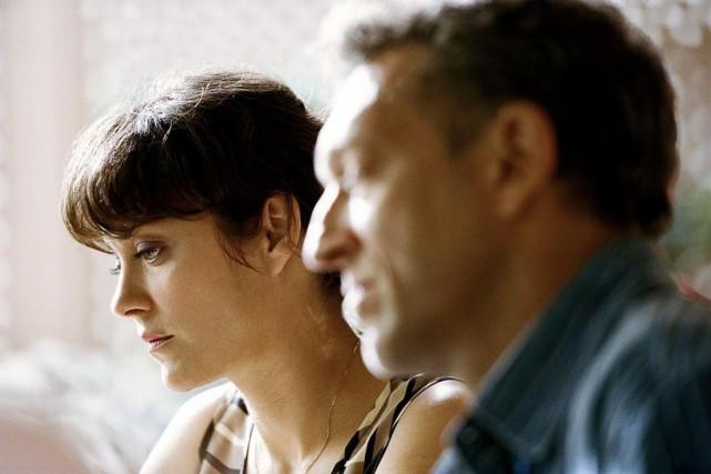 Marion Cotillard etVincent Cassel dansJuste la fin du... (PhotoShayne Laverdière, fournie par Les films séville)
