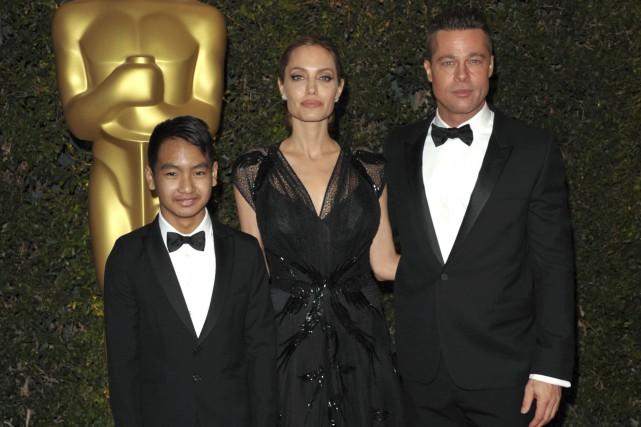 Maddox Jolie-Pitt, Angelina Jolie et Brad Pitt, en... (AP,  John Shearer)
