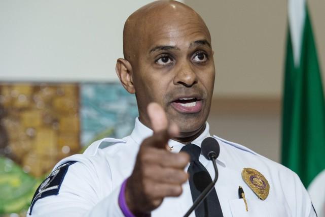 Le chef de la police de Charlottte-Mecklenburg, Kerr... (photo NICHOLAS KAMM, AFP)
