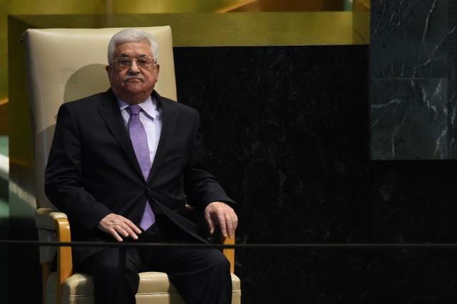 Le président de l'Autorité palestinienne, Mahmoud Abbas... (PHOTO TIMOTHY A. CLARY, AFP)