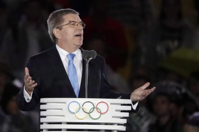 Le président du CIO, Thomas Bach.... (Photo Matt Dunham, AP)