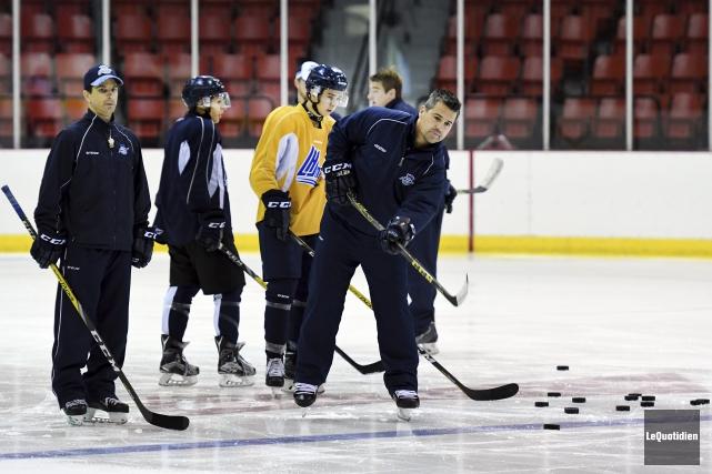 L'entraîneur-chef des Sags, Yanick Jean, a particulièrement hâte... (Photo Le Quotidien, Rocket Lavoie)