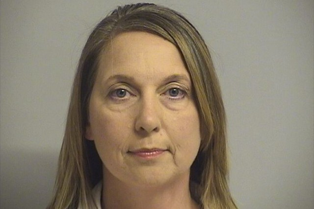 La policière Betty Shelby... (Photo AP/Fournie par le centre d'information des détenus de Tulsa County)
