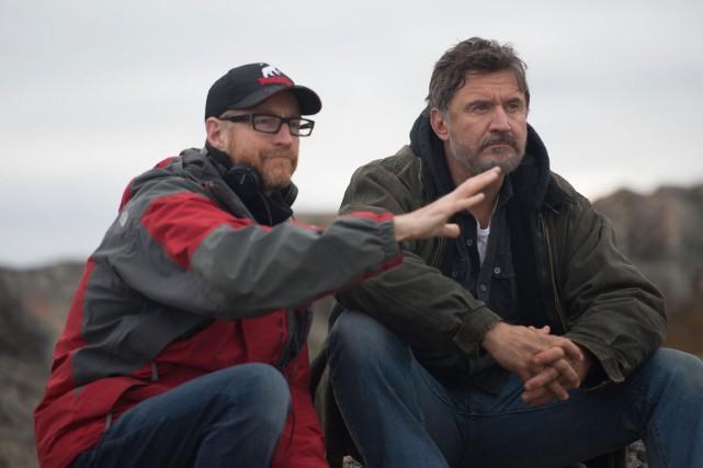 Benoit Pilon et François Papineau sur le plateau... (PHOTO: ACPAV)