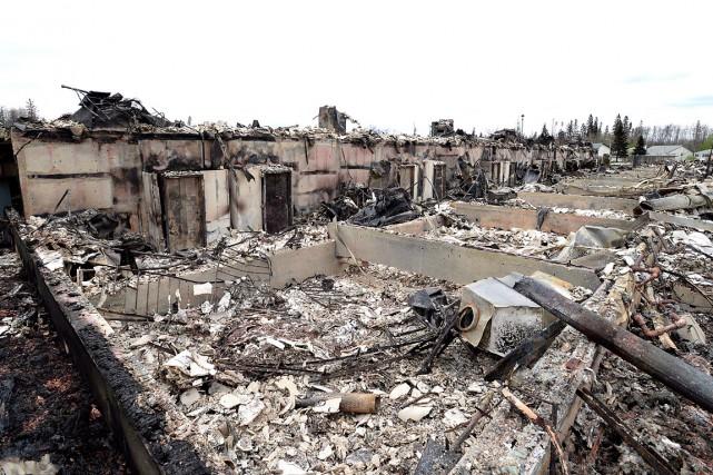 La ville est demeurée vide pendant une bonne... (photo Jonathan Hayward, archives PC)