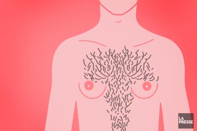 Il y a des hommes qui ont des seins. Pas des pectoraux musculeux, mais des... (ILLUSTRATION LA PRESSE)