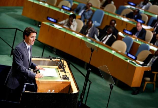 «Justin Trudeau a bien évidemment été applaudi lundi... (Photo Seth Wenig, Associated Press)