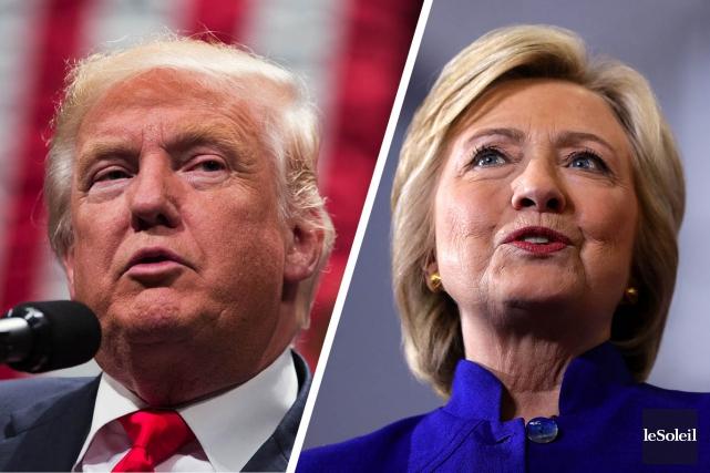 Aucun des deux candidats à la Maison-Blanche ne part favori du premier des... (Photos AP, Montage Le Soleil)