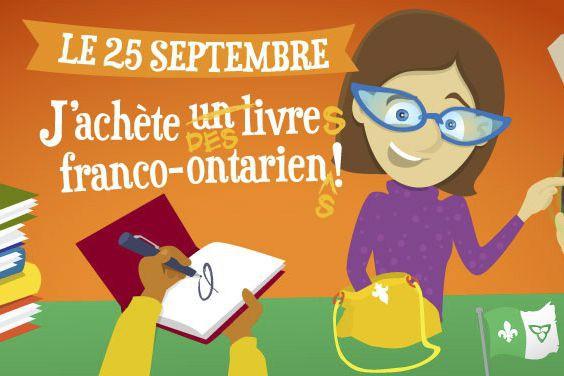 «Le 25 septembre, j'achète un livre franco-ontarien» en est à sa deuxième...