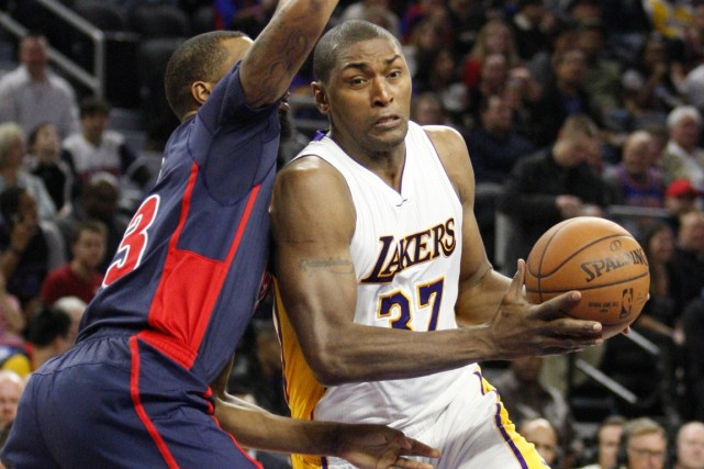 Metta World Peace a effectué un retour chez les... (PHOTO Raj Mehta, archives USA Today Sports)