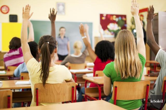 Dans les classes régulières de 28 élèves, les... (Photothèque Le Soleil)