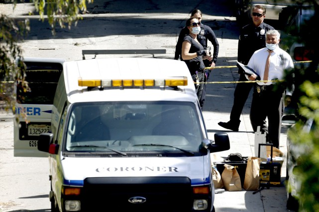 La police de Los Angeles a indiqué que... (PHOTO AP)