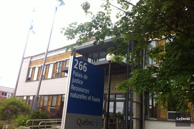 Le Palais de justice de Maniwaki.... (Louis-Denis Ebacher, LeDroit)