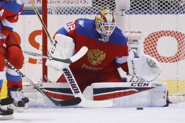 Le gardien Sergei Bobrovsky, gagnant du trophée Vézina... (AFP,  Bruce Bennett)