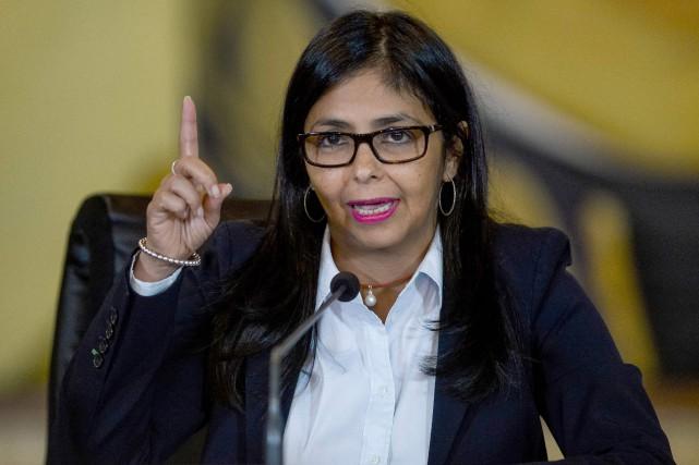 La ministre des Affaires étrangères du Venezuela,Delcy Rodriguez... (PHOTO FEDERICO PARRA, AFP)