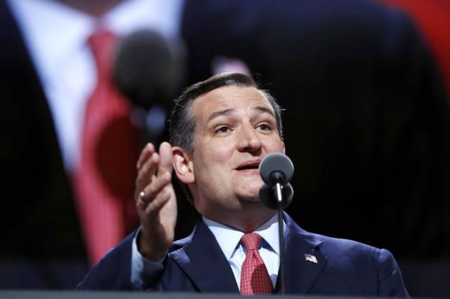 Ted Cruz lors de son discours à la... (Archives AP)